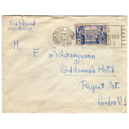 France cover to England 1937
