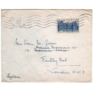 France 1946 cover to England