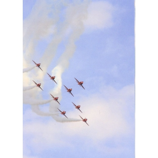 Red Arrows 'Flanker' formation postcard