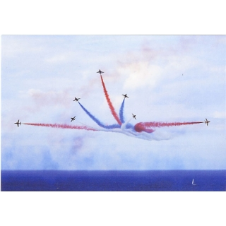 Red Arrows at sea postc..
