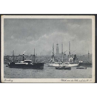 Hamburg, view of the city from the Elbe