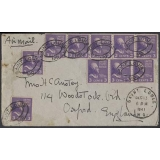 USA 3c prexie coils on 1941 cover St L..