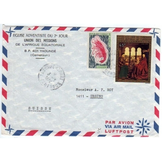 Cameroun airmail cover to Switzerland ..