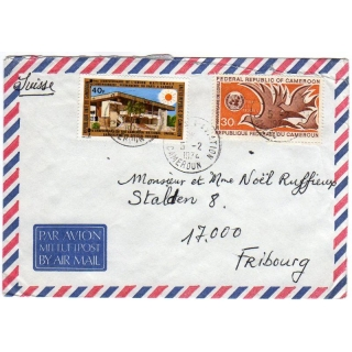 Cameroon airmail cover to Switzerland ..