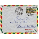 Congo airmail to France 1967