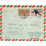 Senegal cover to Switzerland 1963