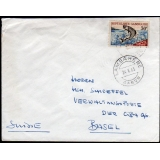 Gabon airmail to Switzerland 1965