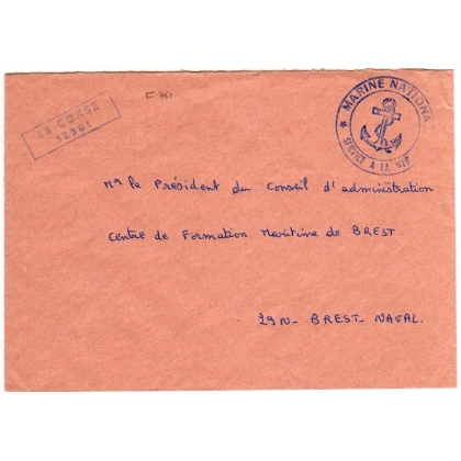 France official cover from Frigate Le Corse F761