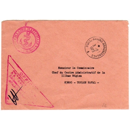 France official cover from aircraft carrier Arromanches 1973