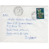 Algeria airmail cover to England 1980