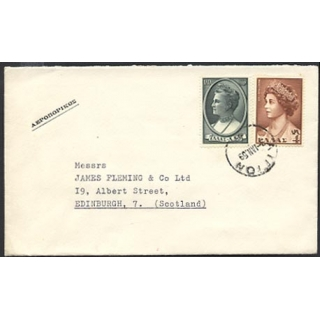 Greece 1959 airmail to Scotland