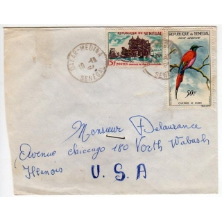 Senegal cover to USA 1964
