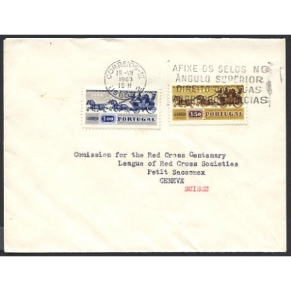 Portugal 1963 cover to Geneva