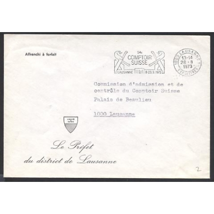 Switzerland unstamped Official cover 1973