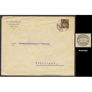 Switzerland cover Station postmark wit..