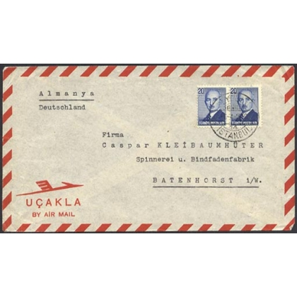 Turkey airmail to Germany 1950