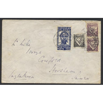 Portugal cover to England 1930s