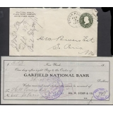 USA 1911 1c pre-stamped envelope SOUTH..