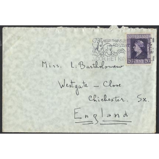 Netherlands 1944 cover charity stamp s..