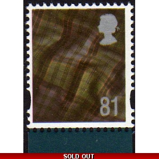 S122.f 81p Scotland stamp from Lest We..