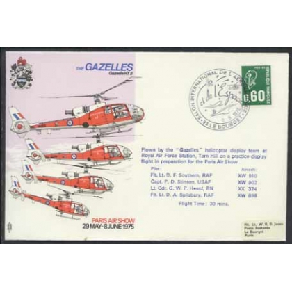 Concorde postmark Paris Air Show 1975, flown