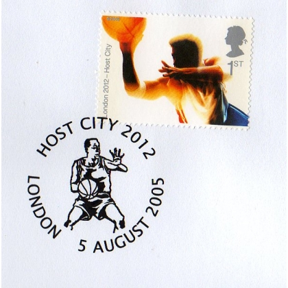 Olympics: London 2012 Host City basketball postmark