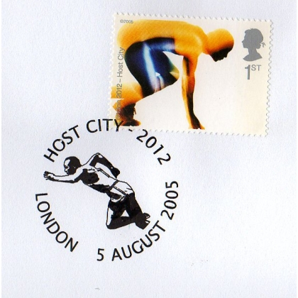 Olympics: London 2012 Host City sprinter postmark