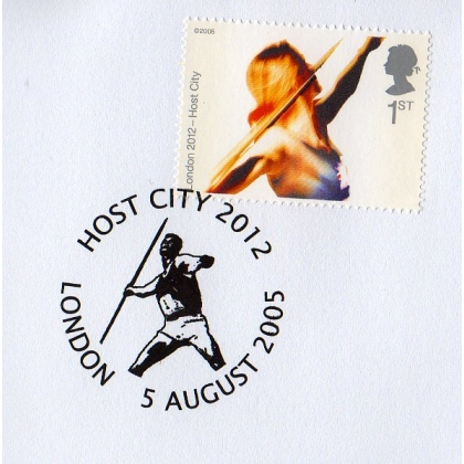 Olympics: London 2012 Host City Javelin postmark