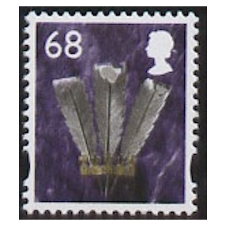 W108 Wales 68p stamp with white border