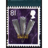 W111 Wales 81p stamp 2008