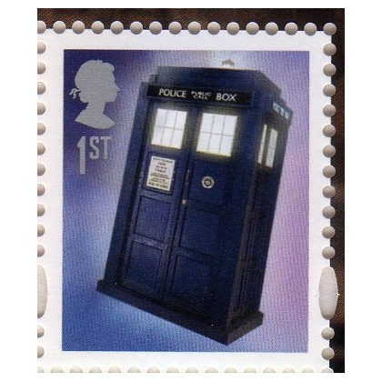 3452 Doctor Who Tardis gummed stamp SG3452