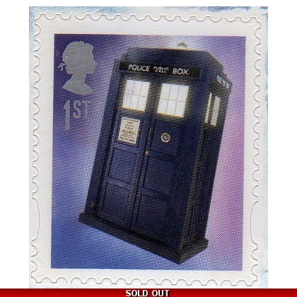 3451a Doctor Who mini-sheet Tardis stamp