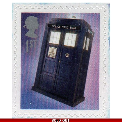 3451b Doctor Who PSB mini-sheet Tardis stamp