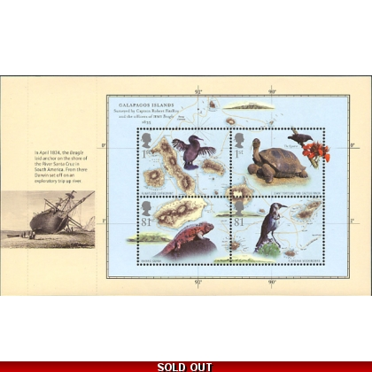 2904a Charles Darwin miniature sheet pane from PSB