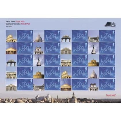 LS66 Italia 2009 Stamp Expo Smilers Sheet