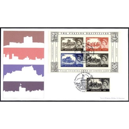 2530 Castles MS Norvic FDC with original £1 stamp