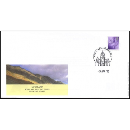 20050405 Scotland 42p definitive stamps on fdc 2005