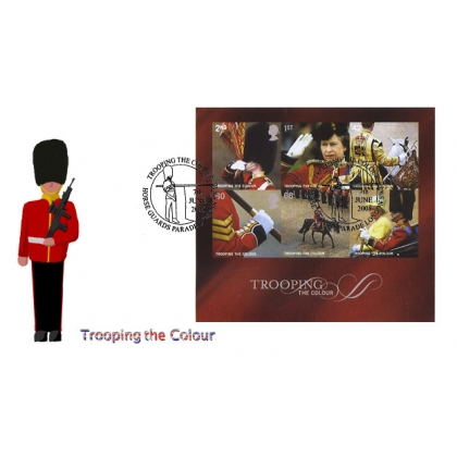 2546 Trooping the Colour MS on Norvic FDC