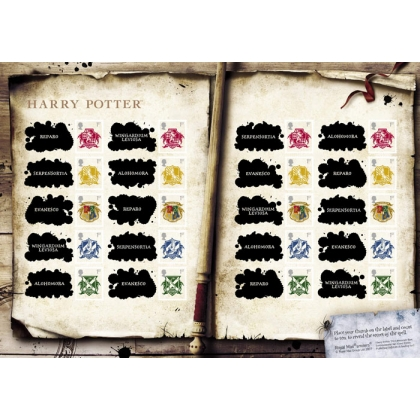 LS41 Harry Potter Smilers Sheet: Hogwarts Crests