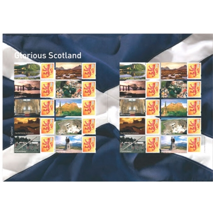 LS44 Glorious Scotland Smilers Sheet self-adhesive