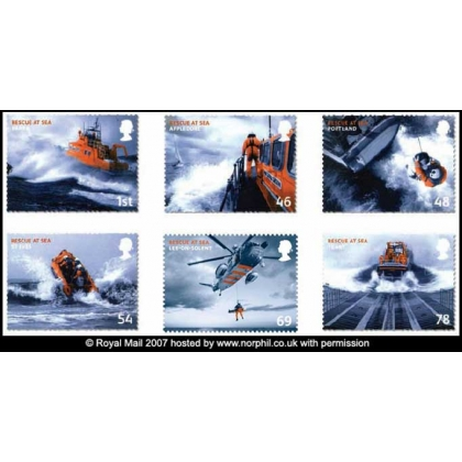 2825 Mayday - Rescue at Sea set of 6 mint