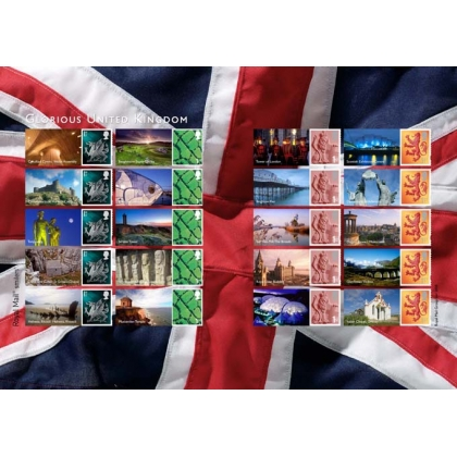 LS49 Glorious United Kingdom Smilers Sheet self-adhesive