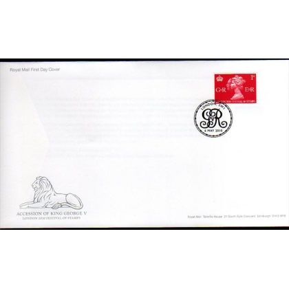3066 Acccession of King George V first day cover 2010