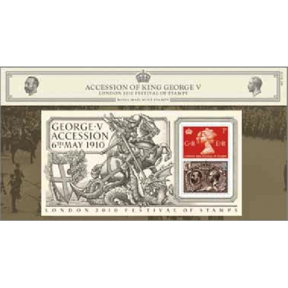 3065PP King George V Accession & Seahorse presentation pack London 2010