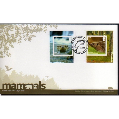 3095 Endangered Mammals booklet pair on first day cover 2010