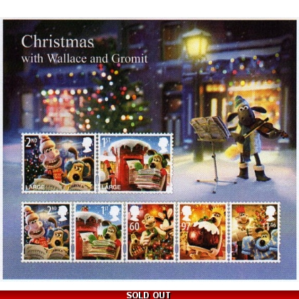 3135MS Wallace & Gromit Christmas miniature sheet