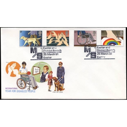 1147G Int Year of the Disabled: Exeter & District MS postmark