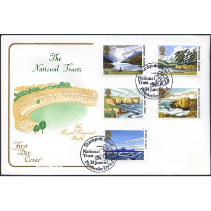 1155F1 National Trust for Scotland FDC Stackpole Head postmark