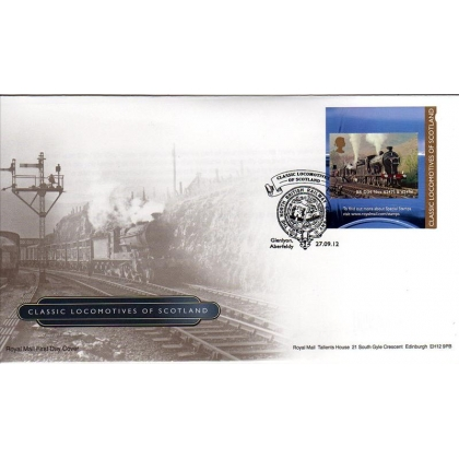 3407 Scottish Locomotive booklet stamp first day cover 2012