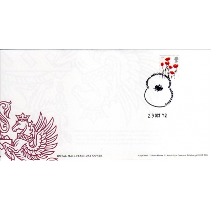 3414 Lest We forget Poppy first day cover 2012